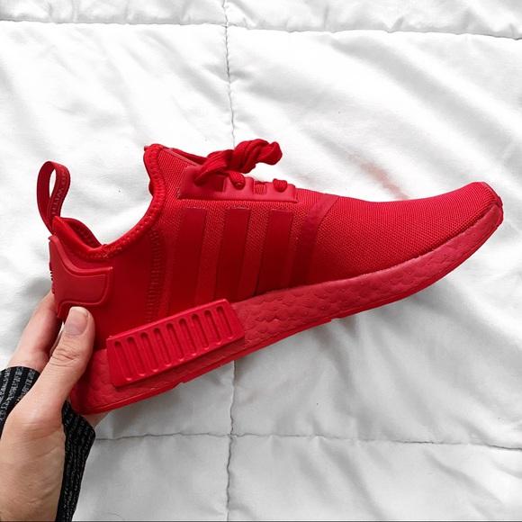 Adidas Shoes Red Nmd R1 Sz M7 W8 Poshmark